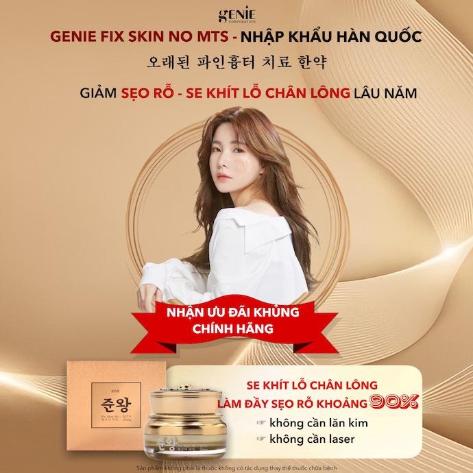 Banner thuốc hỗ trợ trị sẹo rỗ đông y Hàn Quốc Fix Skin No MTS Genie
