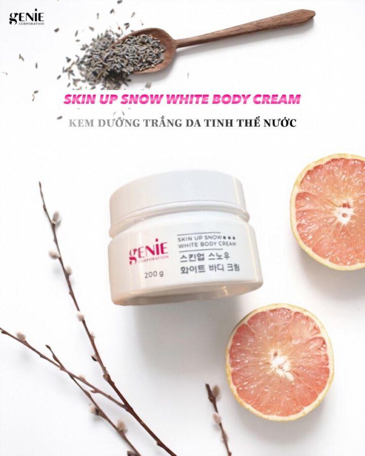 Kem dưỡng thể trắng da tinh thể nước Skin up snow white body cream