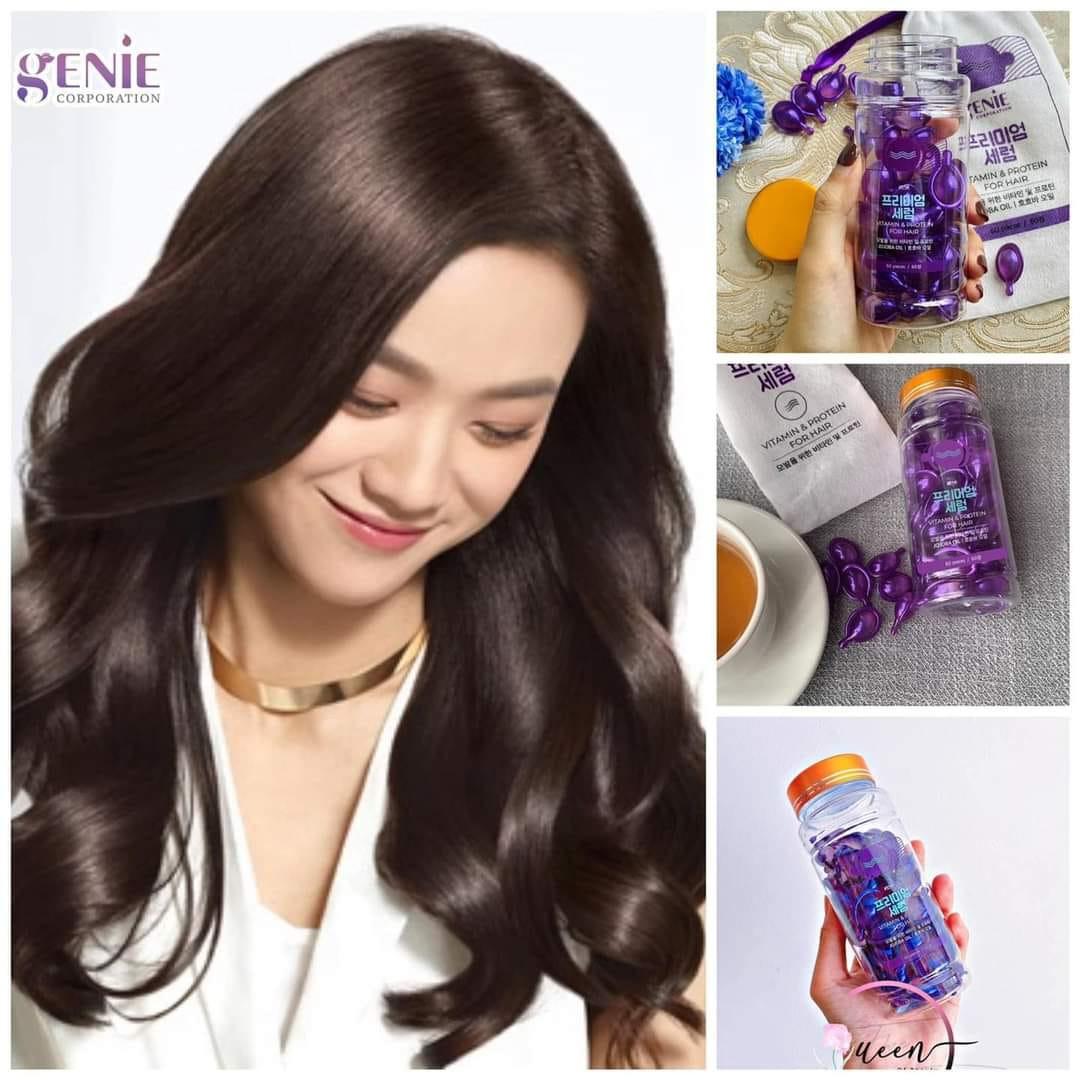 Viên dưỡng phục hồi hư tổn và gãy rụng tóc Genie