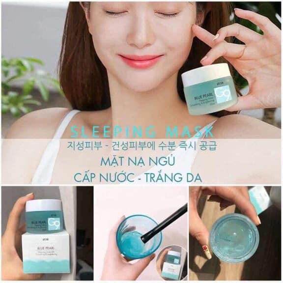 Mặt nạ ngủ – Gel cấp nước Blue Pearl Sleeping Mask G9 Genie