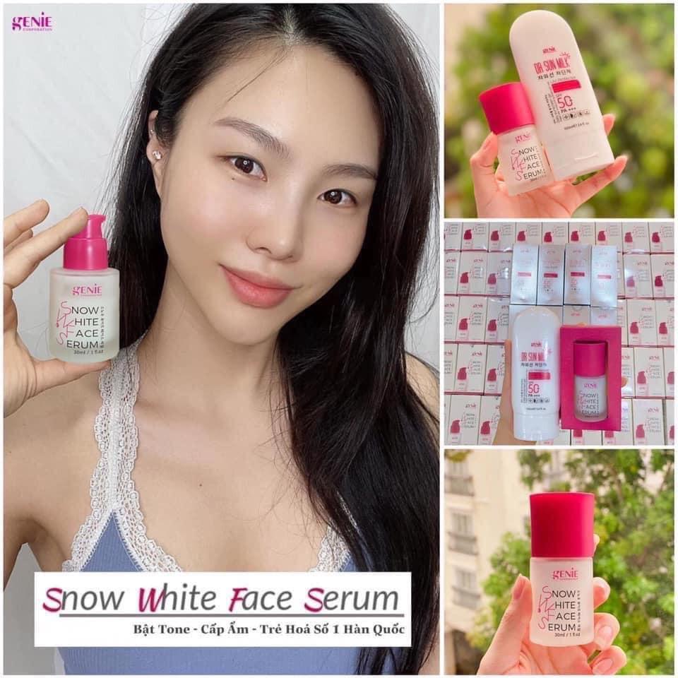 Serum dưỡng trắng da bạch tuyết Snow White Genie