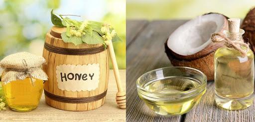 Dưỡng da bằng dầu dừa và mật ong
