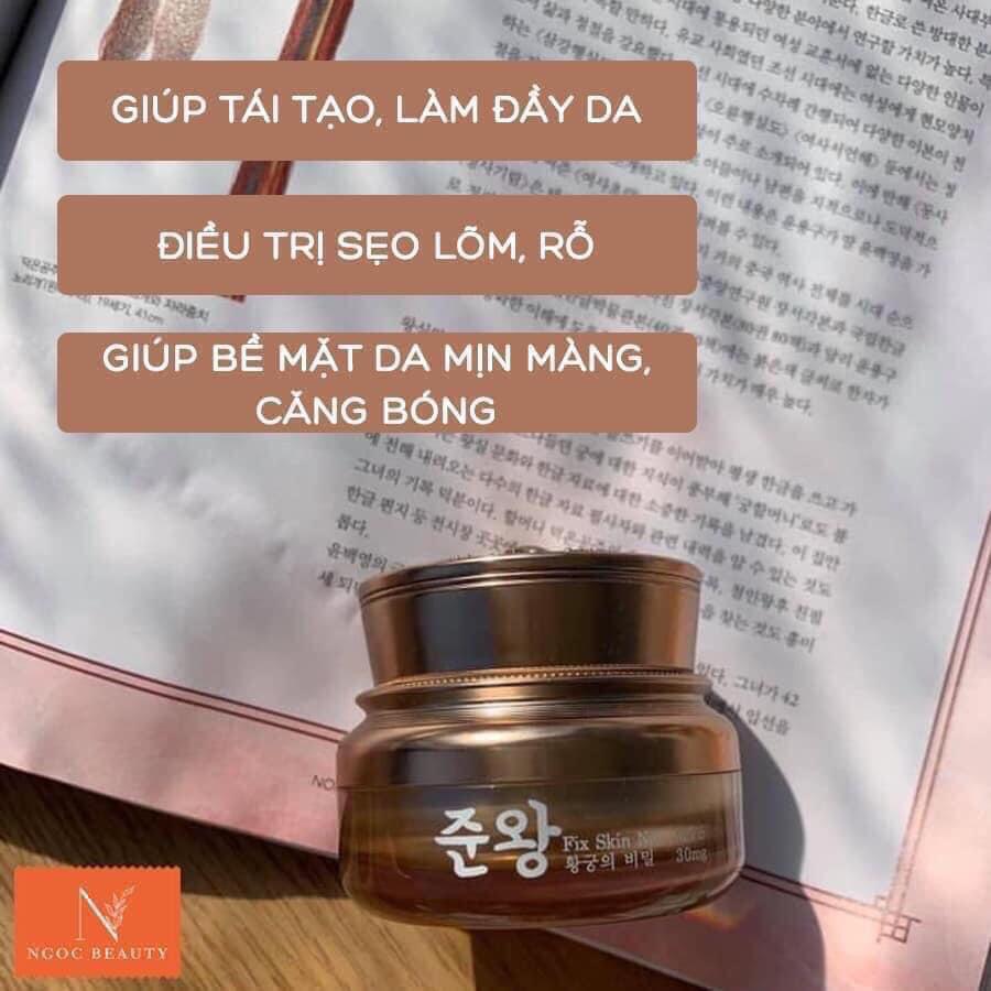Công dụng kem trị sẹo rỗ Hàn Quốc Genie Fix Skin