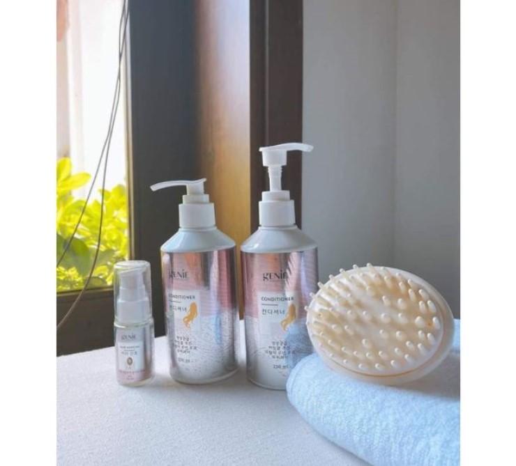 Bộ sản phẩm dưỡng tóc từ Geniecorp tăng hiệu quả phục hồi và nuôi dưỡng.