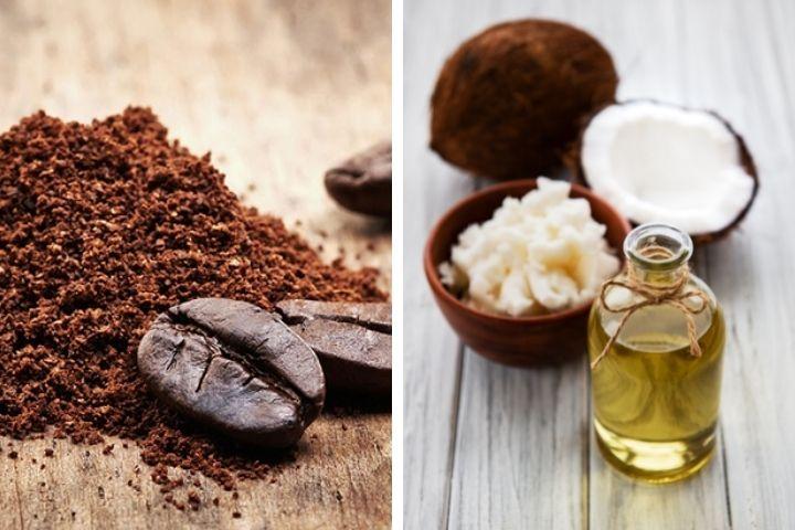 Dưỡng tóc bằng cà phê và dầu dừa