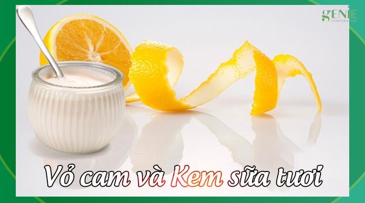 Cách làm mịn da vùng mâu bằng vỏ cam và kem sữa tươi