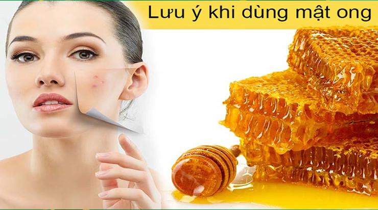 Lưu ý khi dùng mật ong trị mụn
