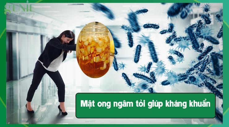 Mật ong ngâm tỏi giúp kháng khuẩn