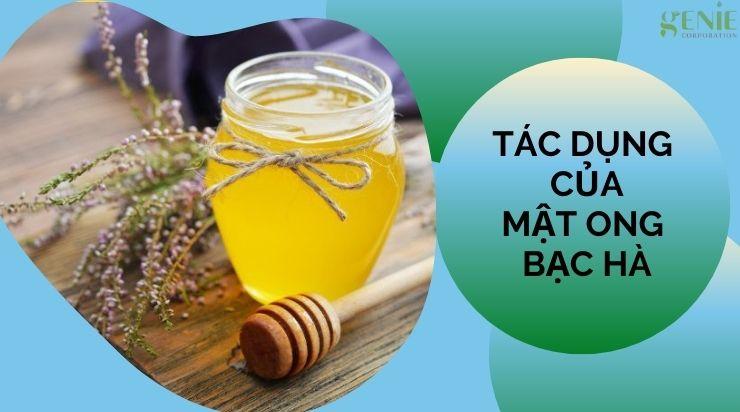 Tác dụng của mật ong bạc hà