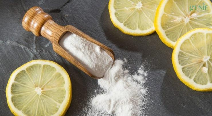 Cách làm mịn da đầu gối bằng chanh và baking soda