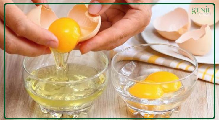 Lòng trắng trứng giúp làm mịn da sau sinh