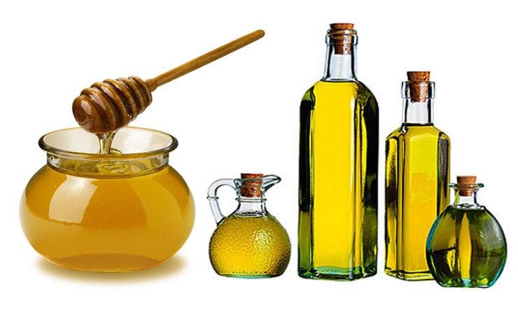 mật ong và dầu oliu mọc tóc