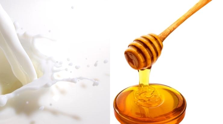 Rửa mặt bằng sữa tươi không đường và mật ong