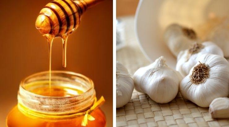 Cách trị mụn gạo trên mặt bằng bột nghệ, mật ong và tỏi