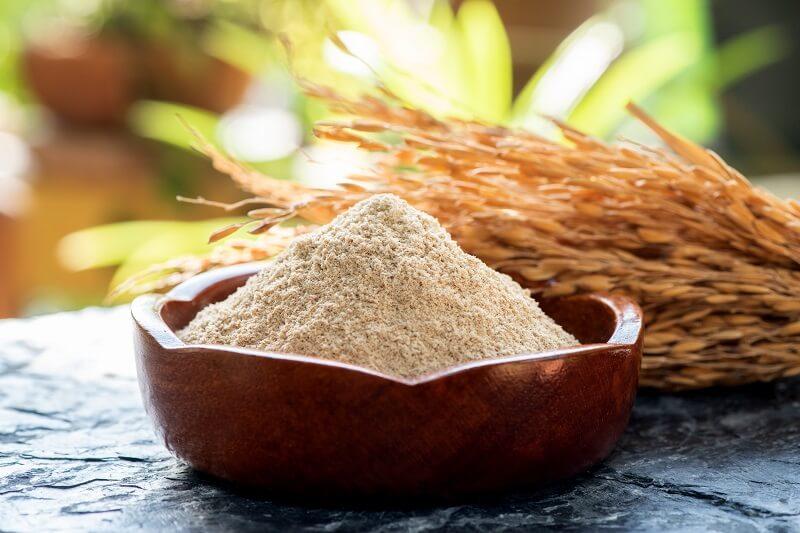 cách dụng bột cám gạo