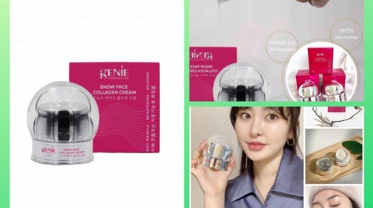 Kem Dưỡng Trắng Da Genie Snow Face Collagen Cream