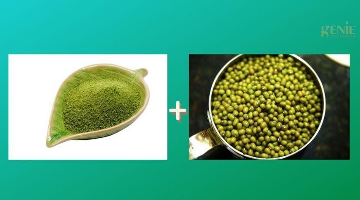 Mặt nạ đậu xanh và trà xanh trị mụn đầu đen hiệu quả