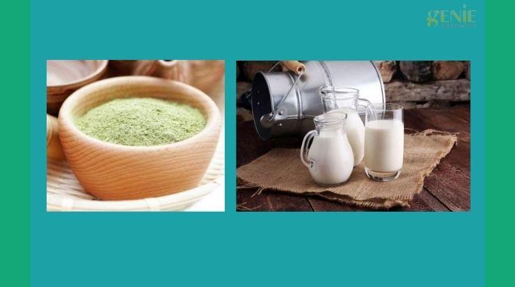 Làm trắng da bằng trà xanh và sữa tươi không đường