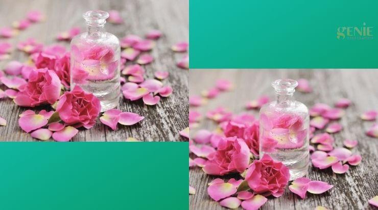 Se khít lỗ chân lông bằng nước hoa hồng