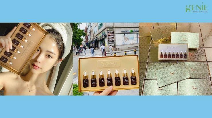 Serum trị nám tầng sâu Vita- C Ampoule Set Vs Shinbi