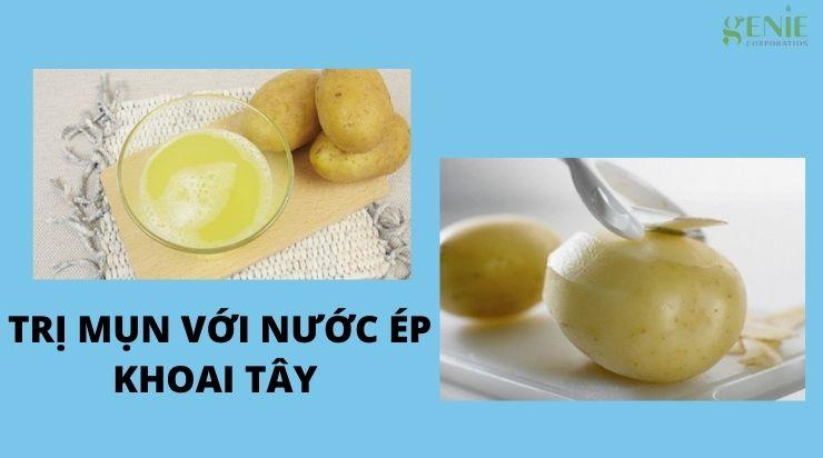 Trị mụn với nước ép khoai tây