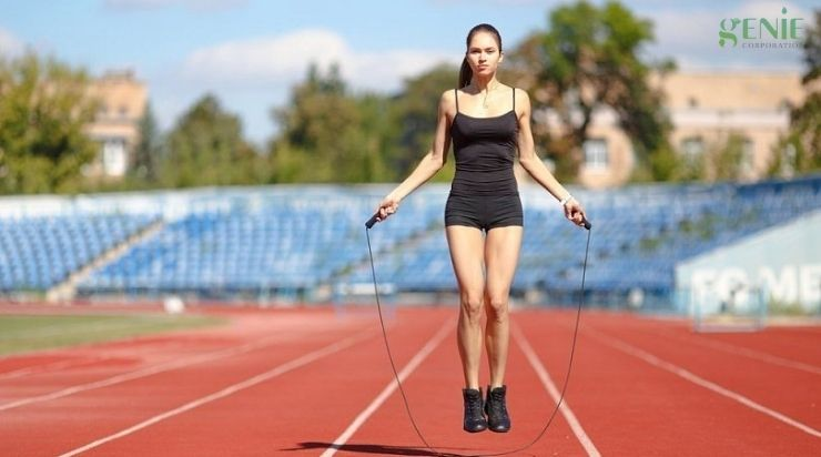 Nhảy dây giảm cân có bị to bắp chân không